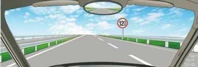高速公路限速标志